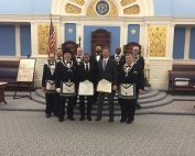New Entered Apprentices with officers of the lodge Feb 2017
