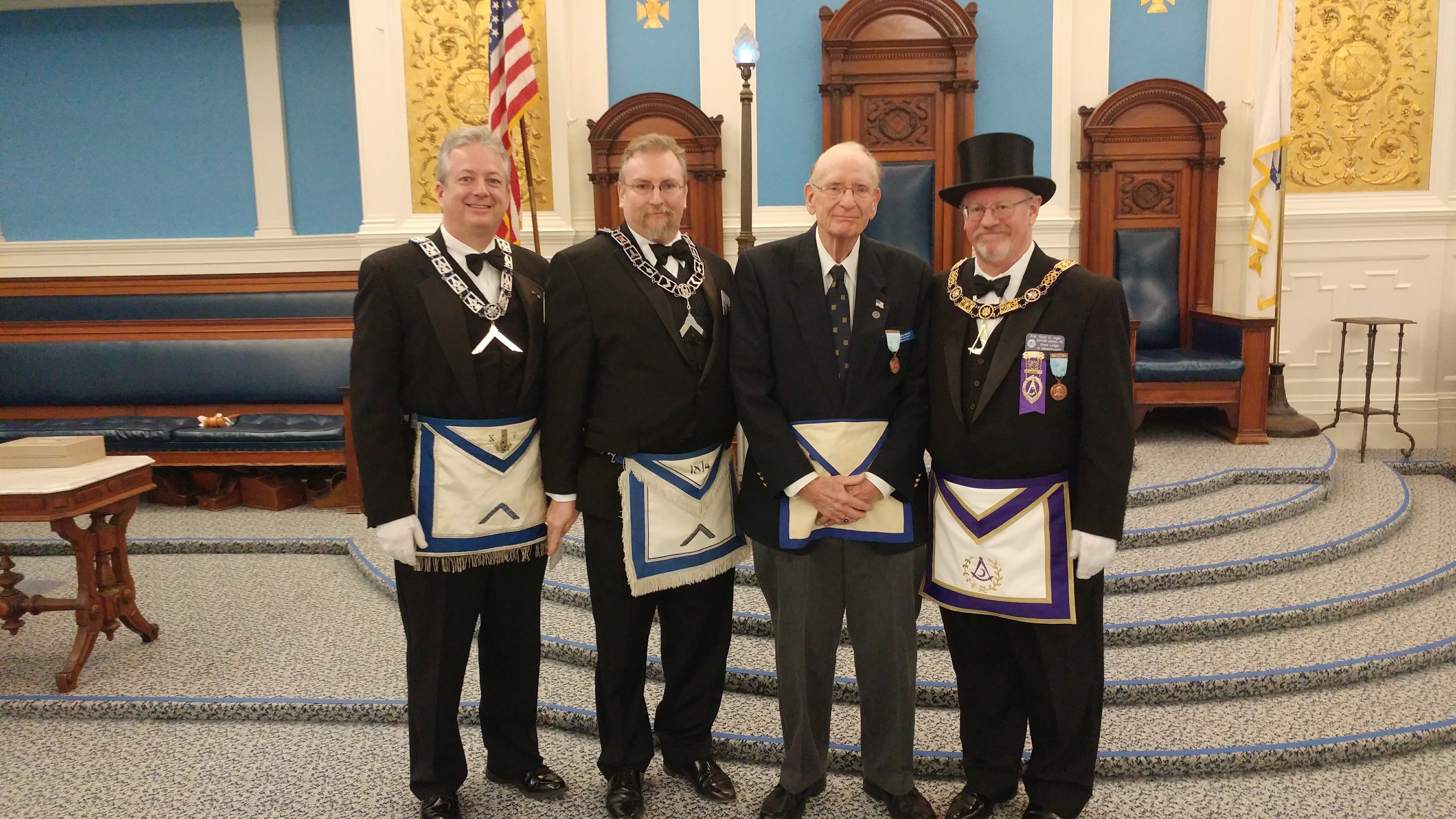 Brother Pete Gilson Receives 50 Year Medal